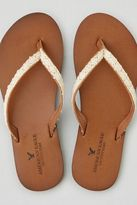 American Eagle Outfitters AE Crochet Leather Flip Flop