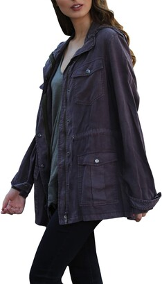 Angie Women's Charcoal Vintage Wash Jacket Small
