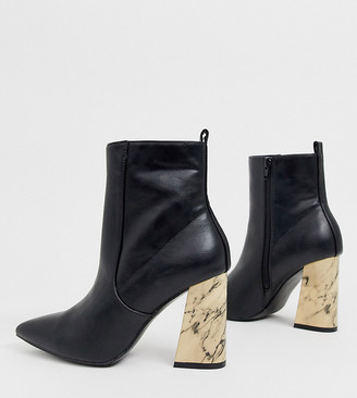 Chloé Z_Code_Z Exclusive vegan heeled ankle boots in black marble