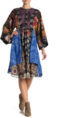 Desigual Macarena Long Sleeve Print Dress