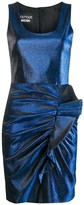 Moschino Metallic-Effect Ruched Mini Dress