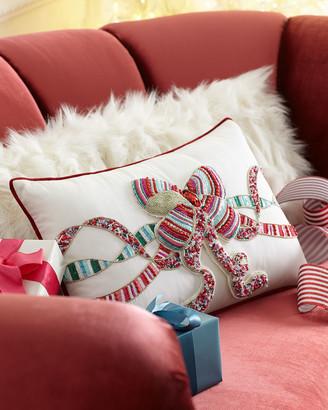 Kim Seybert Sweet Holiday Bow Pillow