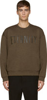 Calvin Klein Collection Green Oversized Eternity Sweatshirt