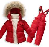 MIQI Baby Boys' Girls' Long Sleeves Ultralight Winter Puffer Jacket Two-piece set (18M, )