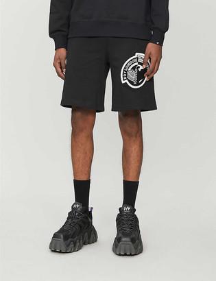 Boy London Logo-print cotton-jersey shorts