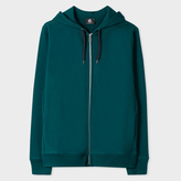 Paul Smith Men's Teal Organic-Cotton Zip-Front Hoodie