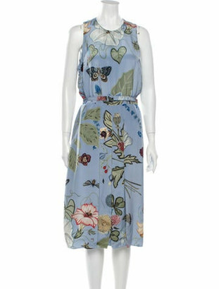 Gucci 2015 Midi Length Dress Blue