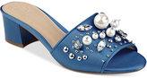 GUESS Women's Dancerr Embellished Slides