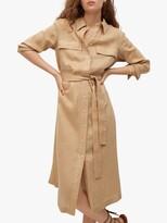 Thumbnail for your product : MANGO Linen Midi Shirt Dress