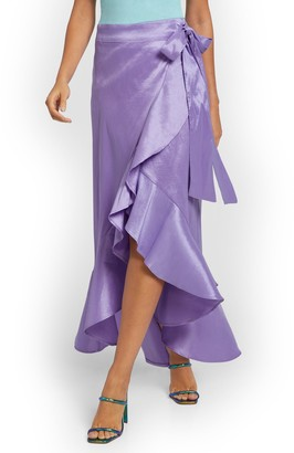 New York & Co. Ruffled Wrap Maxi Skirt