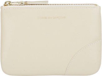 Comme des Garcons Off-white Leather Pouch