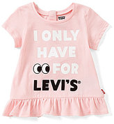 Levi's s Baby Girls 12-24 Months I Only Have Eyes For s Peplum Tee