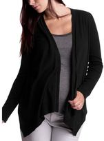 Tapered wrap cardigan