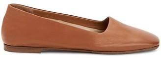 Aquatalia Rosy Square-Toe Leather Flats
