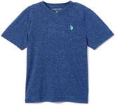 Uspa USPA Boys' Tee Shirts RINSE - Blue Heather Logo V-Neck Tee - Boys