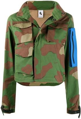 Off-White x Nike NRG camouflage zip-up jacket