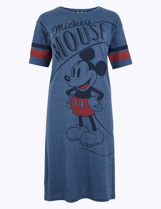 M&S CollectionMarks and Spencer Mickey Mouse Print Short Nightdress