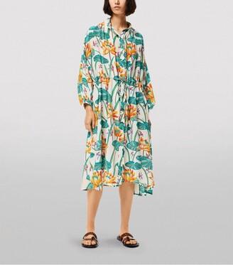 Loewe X Paula'S Ibiza Waterlily Print Shirt Dress