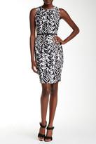 Nine West Printed Belted Dress