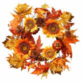 NATIONAL TREE CO National Tree Co 22 Inch Sunflower Pumpkin Wreath