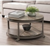 Brien Wheel Coffee Table with Storage Union Rustic Color: White-limed Burnt Oak/Distressed Gray