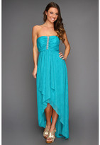 Laundry by Shelli Segal Strapless Cascade Front Gown