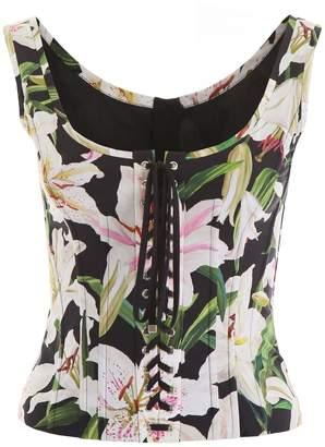Dolce & Gabbana Floral Print Bustier Top