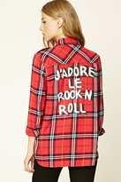 Forever 21 FOREVER 21+ Rock N Roll Plaid Shirt