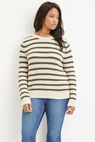 Forever 21 Plus Size Stripe Chunky Knit Sweater
