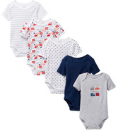 Rene Rofe Beep Beep Bodysuits - Pack of 5 (Baby Boys)