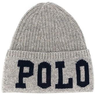 Ralph Lauren Kids logo knitted hat