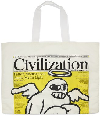 Junya Watanabe Oversize Printed Nylon Twill Tote Bag