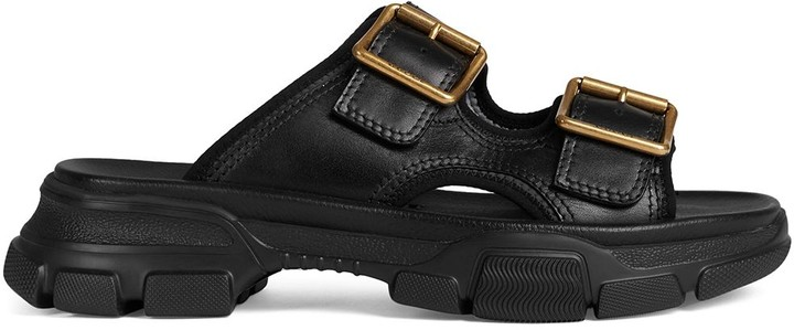 Gucci Buckled Leather Sandals