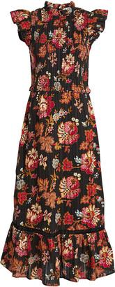 Sea Pascale Smocked Cotton Midi Dress