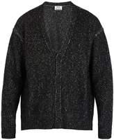 Acne Studios Nevida speckled cotton-blend cardigan