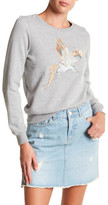 Noisy May Fly Long Sleeve Parrot Embroidered Sweatshirt