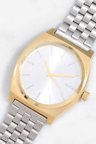 Nixon Time Teller Light Gold and Cobalt Watch