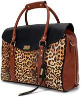 Badgley Mischka Leopard Travel Tote Weekender Bag