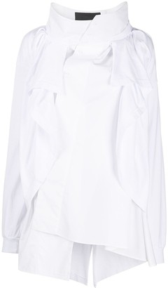 aganovich Deconstructed High-Neck Shirt