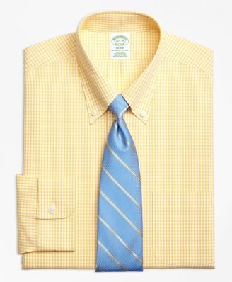 Brooks Brothers Milano Slim-Fit Dress Shirt, Non-Iron Dobby Gingham