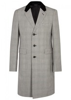 Alexander Mcqueen Prince Of Wales-checked Wool Coat