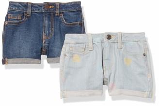 Amazon Essentials 2-Pack Girls Denim Jean Short