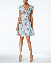 Betsey Johnson Floral-Print Fit & Flare Dress