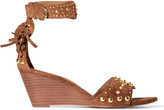 Ash Dido studded suede wedge sandals