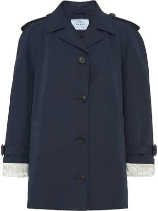 Prada Oversized Short Trench Coat