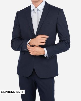 Express Extra Slim Navy Cotton Blend Stretch Suit Jacket