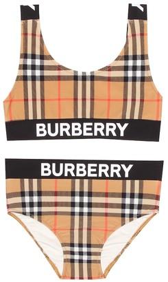 BURBERRY KIDS Check bikini