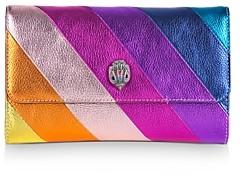 Kurt Geiger K Stripe Mini Leather Chain Wallet