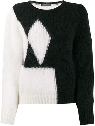 ALEXACHUNG Alexa Chung contrast long-sleeve sweater