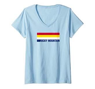 Womens Rocky Mountain National Park Colorado Colors V-Neck T-Shirt